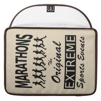 MARATHONS, the original extreme sports events MacBook Pro Sleeve