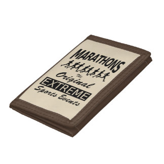 MARATHONS, the original extreme sports events Tri-fold Wallets