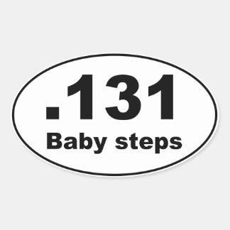 Maratón .131 - Pasos de bebé Pegatina Ovalada