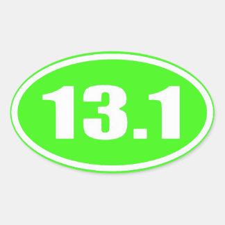 Maratón 13,1 del pegatina el | de la verde lima