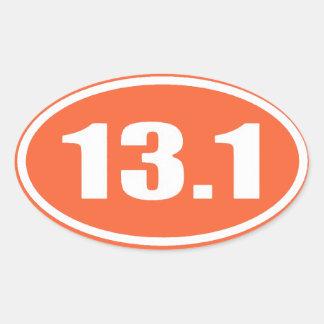 Maratón 13,1 del pegatina el   del naranja medio