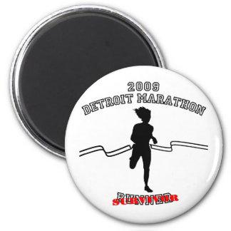 Maratón 2009 de Detroit Iman Para Frigorífico