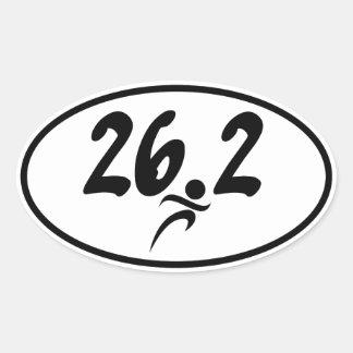 maratón 26 2 calcomania óval