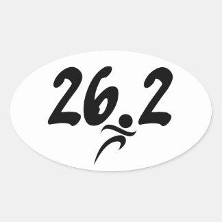 maratón 26 2 calcomanía oval