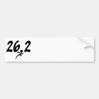 maratón 26 2 etiqueta de parachoque