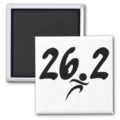maratón 26,2 imán cuadrado