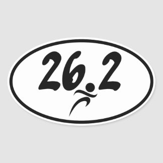 maratón 26,2 pegatina ovalada