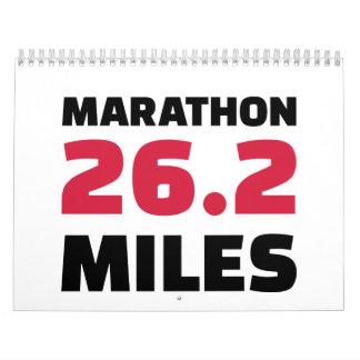 Maratón 26 millas calendario de pared
