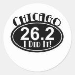 Maratón de Chicago Etiqueta Redonda