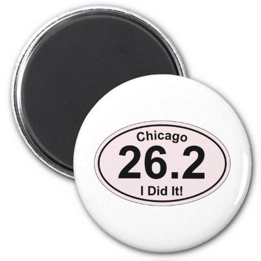 Maratón de Chicago Imán Redondo 5 Cm