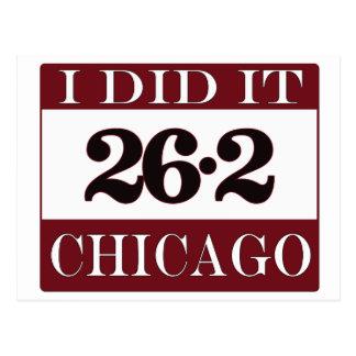 Maratón de Chicago Tarjeta Postal