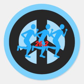 maratón de la paz pegatina redonda
