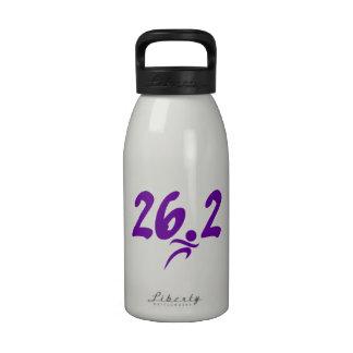 Maratón de la púrpura 26,2 botella de beber