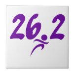 Maratón de la púrpura 26,2 azulejo cerámica