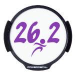 Maratón de la púrpura 26,2 sticker LED para ventana