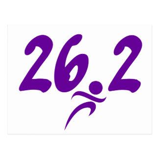 Maratón de la púrpura 26,2 tarjetas postales