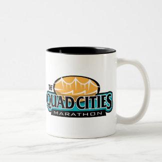 Maratón de las ciudades del patio tazas de café