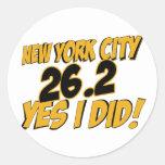 Maratón de New York City Pegatinas