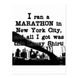 Maratón de New York City Tarjeta Postal