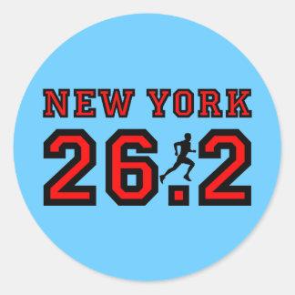Maratón de Nueva York Pegatina Redonda