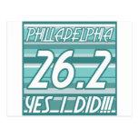 Maratón de Philadelphia Tarjetas Postales
