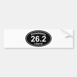 Maratón de Philadelpia Etiqueta De Parachoque