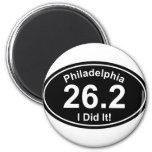 Maratón de Philadelpia Imanes De Nevera