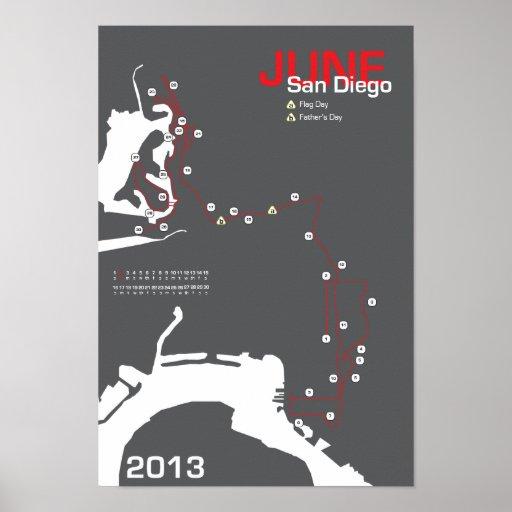 Maratón de San Diego Posters