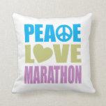 Maratón del amor de la paz almohada