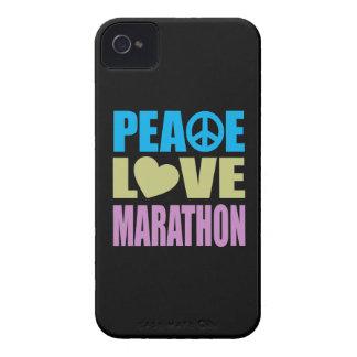 Maratón del amor de la paz carcasa para iPhone 4