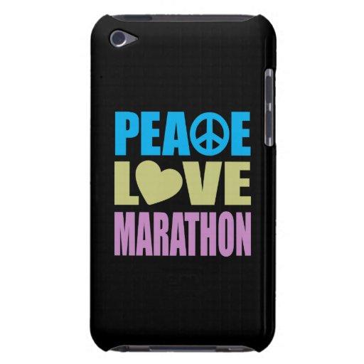 Maratón del amor de la paz iPod touch Case-Mate fundas