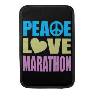 Maratón del amor de la paz fundas para macbook air