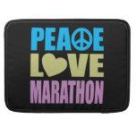Maratón del amor de la paz funda para macbooks