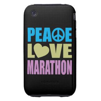 Maratón del amor de la paz iPhone 3 tough protector