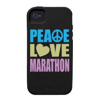 Maratón del amor de la paz iPhone 4/4S carcasa
