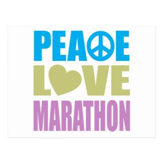 Maratón del amor de la paz postal