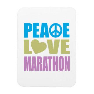 Maratón del amor de la paz rectangle magnet