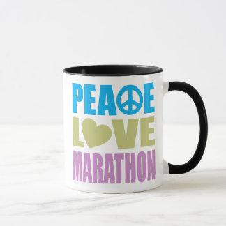 Maratón del amor de la paz taza