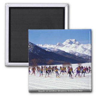 Maratón del esquí de Engadin, Silvaplana, Suiza Wi Iman De Frigorífico