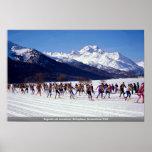 Maratón del esquí de Engadin, Silvaplana, Suiza Wi Impresiones