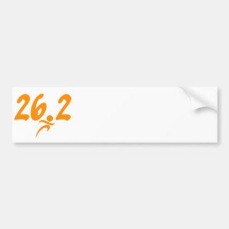Maratón del naranja 26,2 pegatina de parachoque