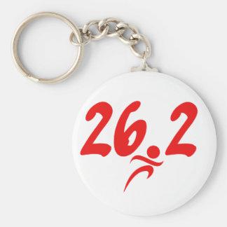 Maratón del rojo 26 2 llaveros personalizados