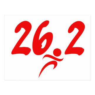 Maratón del rojo 26,2 tarjetas postales