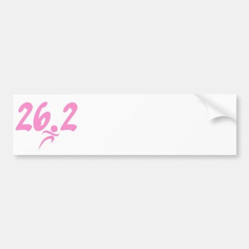 Maratón del rosa 26,2 etiqueta de parachoque