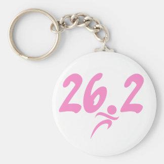 Maratón del rosa 26 2 llavero personalizado