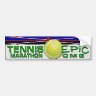 Maratón del tenis etiqueta de parachoque