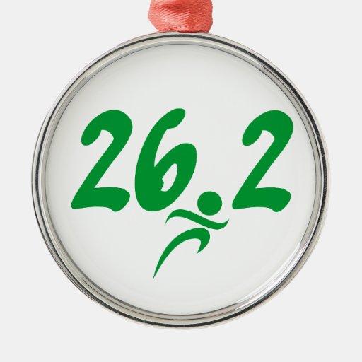 Maratón del verde 26,2 ornamento de navidad
