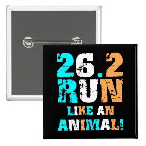 Maratón divertido 26,2 pin cuadrada 5 cm
