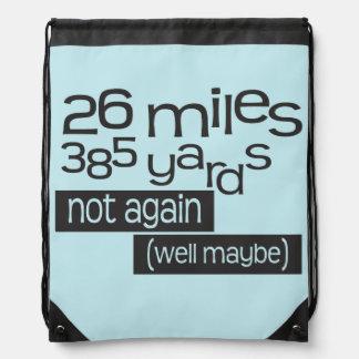 Maratón divertido 26 millas 385 yardas de © mochilas