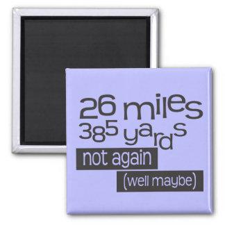 Maratón divertido 26 millas 385 yardas imán cuadrado
